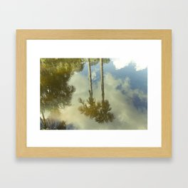 In paradise there are palmtrees, Peru Framed Art Print