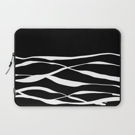 A Bottomless Sea 3 Black and White Laptop Sleeve