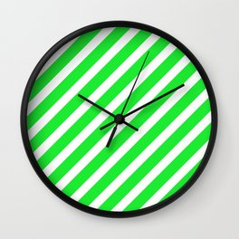 Basic Stripes Green Wall Clock