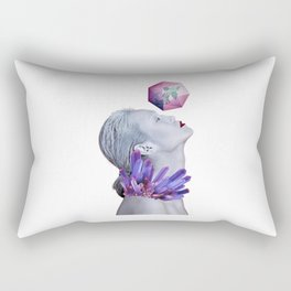Woman Crystals Surreal Collage Rectangular Pillow