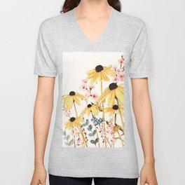Summer Flowers Unisex V-Neck