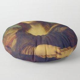 Classic Art - Mona Lisa - Leonardo da Vinci Floor Pillow