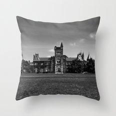 University College Main Building Toronto Canada Throw Pillow