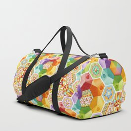 Circus Rainbow Hexagons Duffle Bag