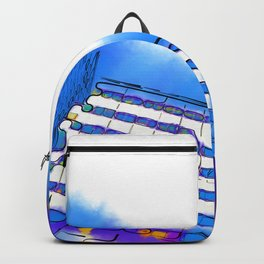 Abstract Towers Backpack
