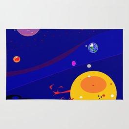 The Solar System Expanded Frame Rug
