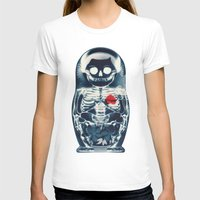 doll T-shirts featuring Nesting Doll X-Ray by Ali GULEC
