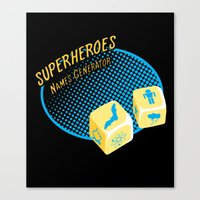 super heroes Canvas Prints featuring Super-Heroes-Name-Generator by sergio37