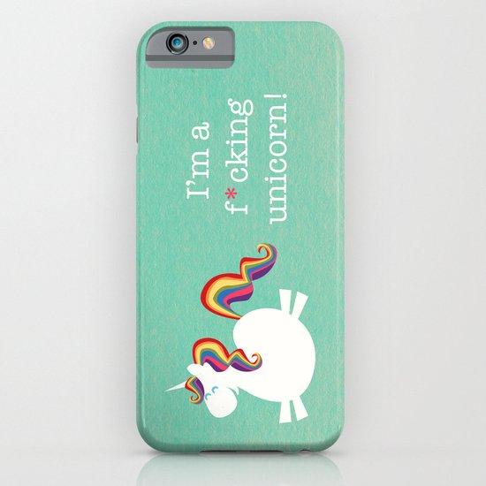 Unicorn - I'm a maturely speaking unicorn!!! iPhone & iPod Case