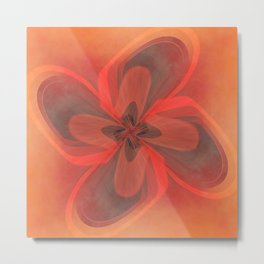 Retro Flower  Metal Print