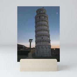 Pisa Tower At Night 2 remus romulus Tuscany Italy Mini Art Print