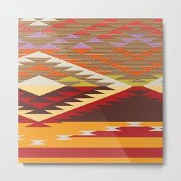 American Native Pattern No. 134 Metal Print