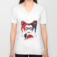 harley quinn V-neck T-shirts featuring Harley Quinn by Berry Luna
