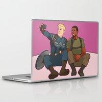 superhero Laptop & iPad Skins featuring Superhero Selfie by Kelslk