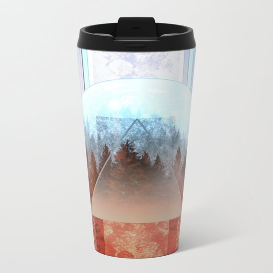 abstract floral forest 2 Metal Travel Mug