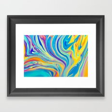 rainbow swirl Framed Art Print