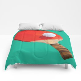 Ping Pong Paddle polygon art Comforters