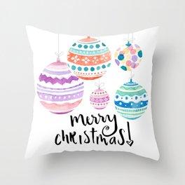Christmas Ornament Throw Pillow