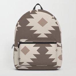 Southwestern Pattern 524 Beige Backpack