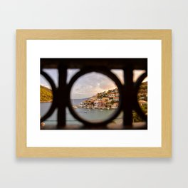 balcony view Framed Art Print