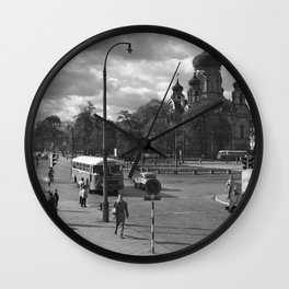 Cathedral of St. Mary Magdalene in Warsaw Wall Clock