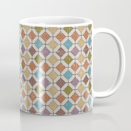 Vintage abstract geometrical mosaic diamond shapes pattern Coffee Mug