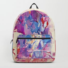 Electric blue, orange purple, hot pink, beige, cream - Abstract no.57 Backpack