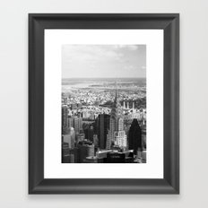 Black and White. Chrysler Building, New York. Framed Art Print