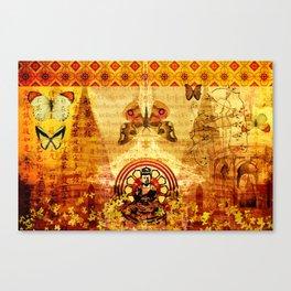 Buddha and Butterflies Canvas Print