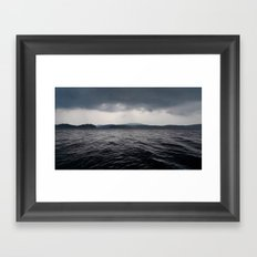 'Lake Ominous' Framed Art Print