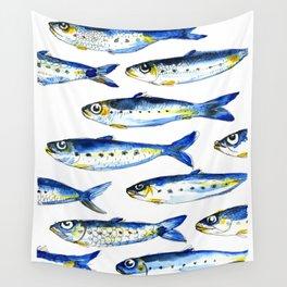 Sardines Wall Tapestry