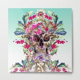 Momento Mori Floral Metal Print