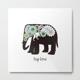 Paisley Elephant - Big Love Metal Print