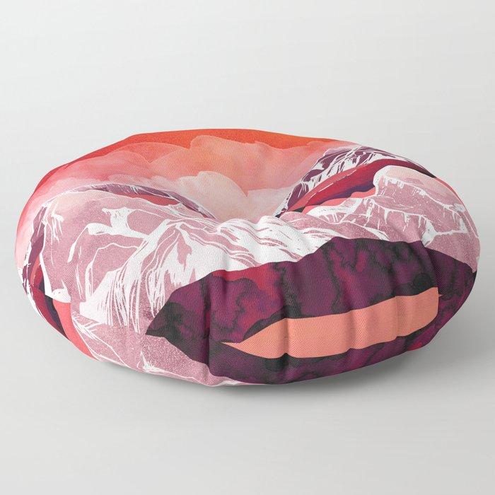 Scarlet Glow Floor Pillow