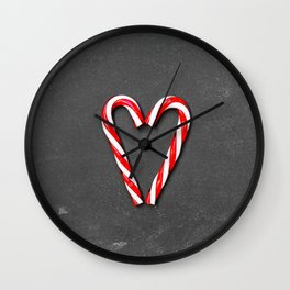Love Peppermint Heart (Color) Wall Clock