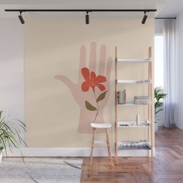 Flower on the Palm of the Hand Wall Mural