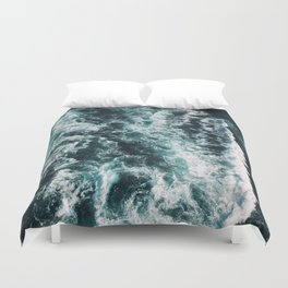 Green Seas Yes Please Duvet Cover