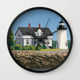 Prospect Harbor Lighthouse Wall Clock