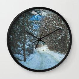 Winter Feels Wall Clock