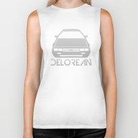 delorean Biker Tanks featuring DeLorean DMC–12 - silver - by Vehicle
