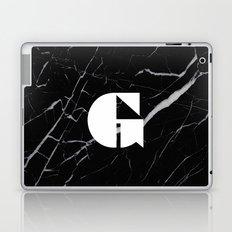 Black Marble - Alphabet G Laptop & iPad Skin