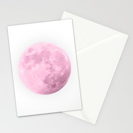 COTTON CANDY PINK MOON Stationery Cards