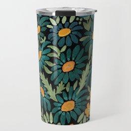 Watercolor . Chamomile field. 2 Travel Mug