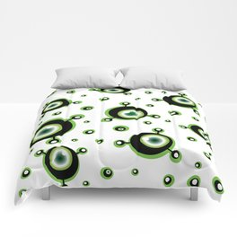 Justified Paranoia Green Comforters