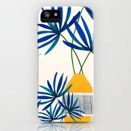 Blue Morocco Whimsy - Sunny Garden Art iPhone Case