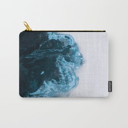 Abstract Aerial Lake in Iceland – Minimalist Landscape Photography Carry-All Pouch