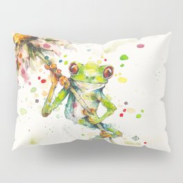 Hello There Bright Eyes (Green Tree Frog) Pillow Sham