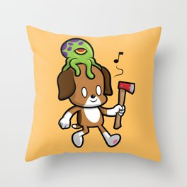 Bad Little Guy Throw Pillow