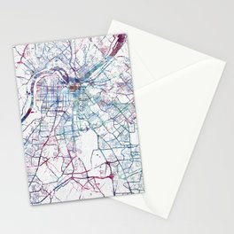 Louisville map 2 Stationery Cards