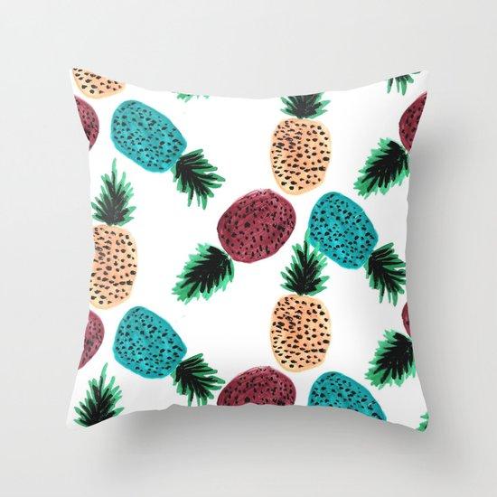 Weird Pineapples Throw Pillow